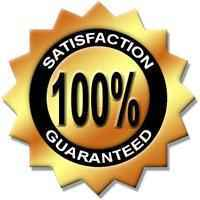 100% Satisfaction Guaranteed! If you are not 100% satisfied with your purchase, please return it for a full refund.
